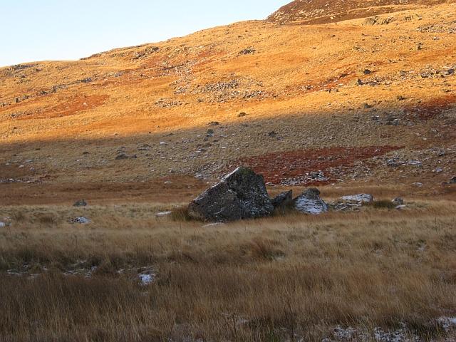 Large boulder, Delnamer