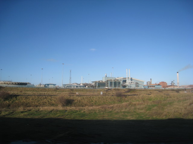 View towards the Redcar steel works