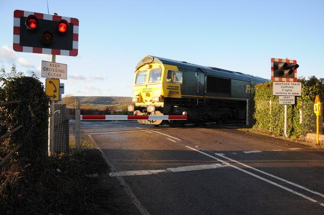 Freight train on Wellington Crossing