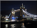 TQ3380 : Tower Bridge at night by Oast House Archive