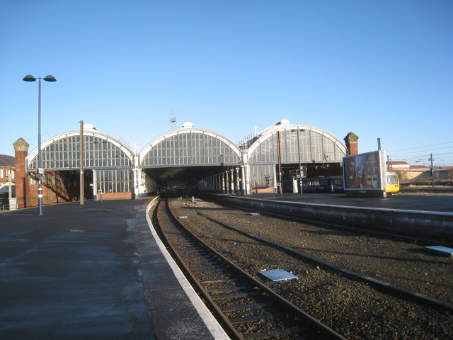 The south end of Darlington Bank Top Station