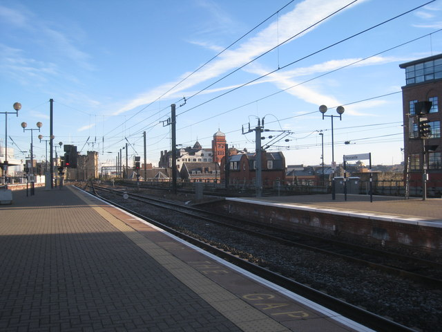 The east end of Newcastle Central Station