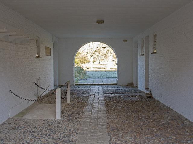 Archway beneath Cupola Block