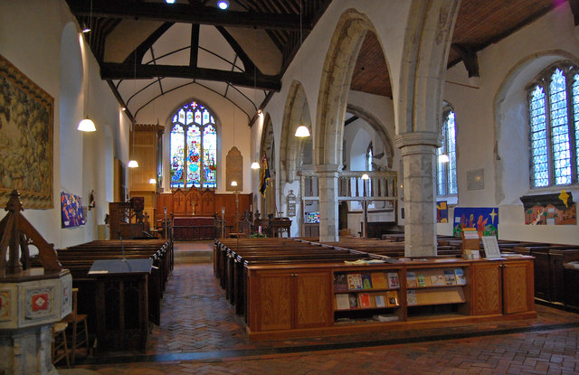 Interior, St Nicholas' church, Pluckley