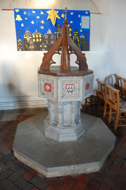 Font, St Nicholas' church, Pluckley