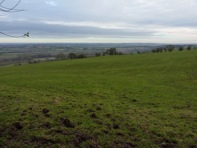The line of the bridleway above Underton