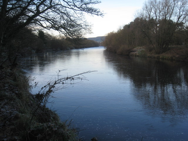 The River Tyne, looking upstream towards Corbridge