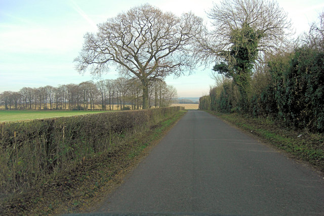 Unnamed lane east of Rooksgrove Farm