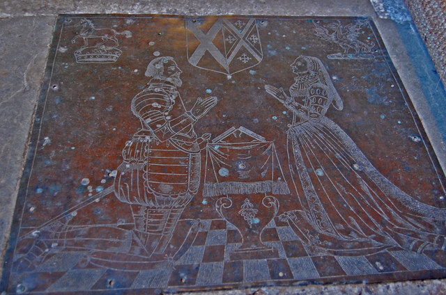 Brass to Richard Dering and wife Margaret, Pluckley church