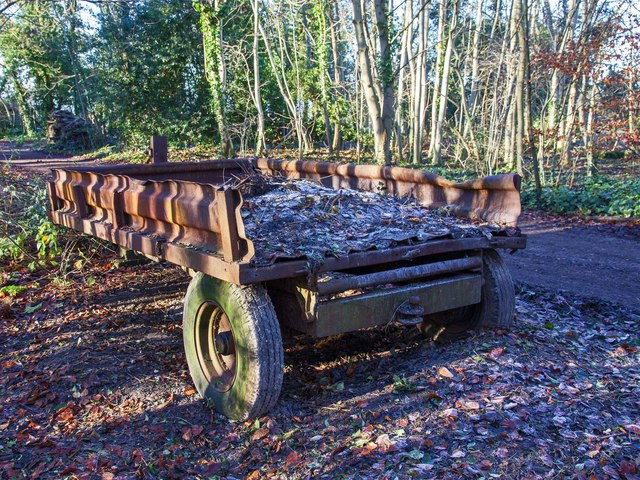 Old trailer by the track, Wendlebury Country Park