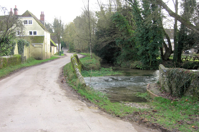 Crossing the River Meon in Warnford