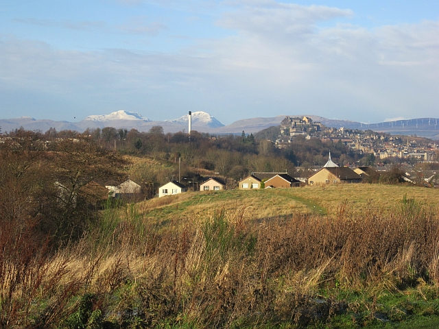 Stirling seen from Bannockburn