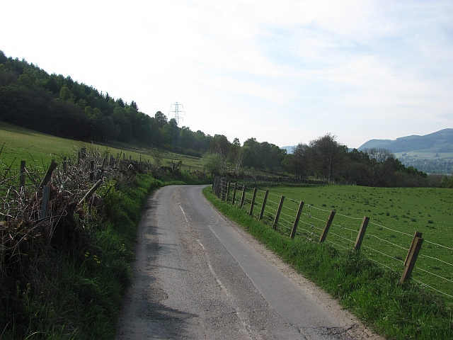 Minor road near Mains of Killichangie