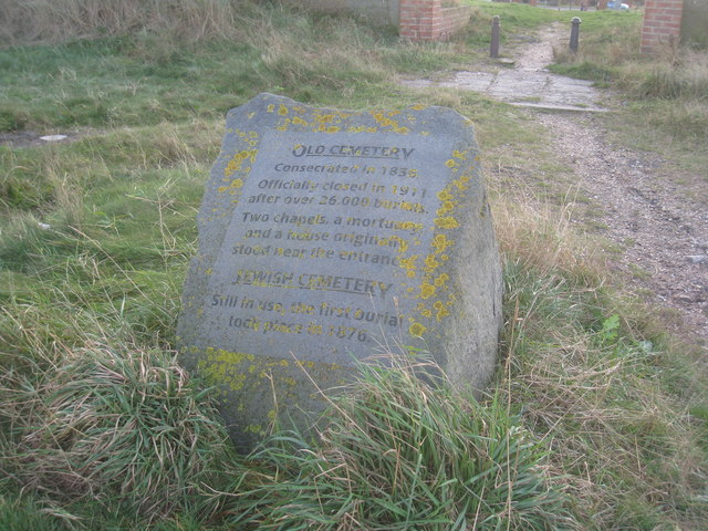 Commemorative stone, The Old Cemetery