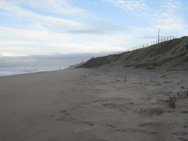 The beach looking towards Throston