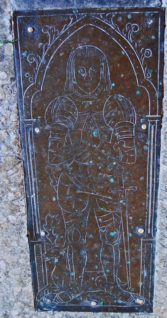 Brass to Richard Dering, St Nicholas' church, Pluckley