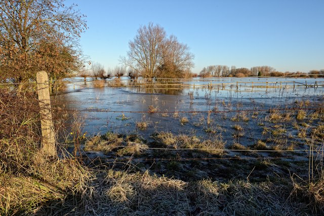 Flooding north of Whittlesey