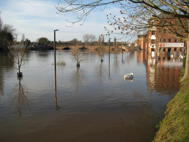 Flooded River Severn, Worcester