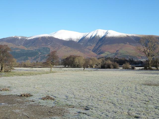 Frosted fields beside Newlands Beck