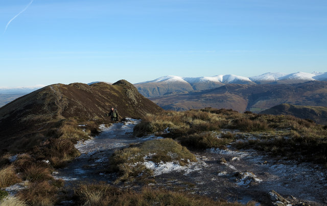 Ridge connecting Causey Pike and Scar Crags