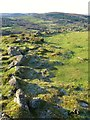 SX7682 : Hillfort near Hunter's Tor by Derek Harper