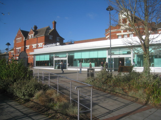 Modern facade for Basingstoke Station