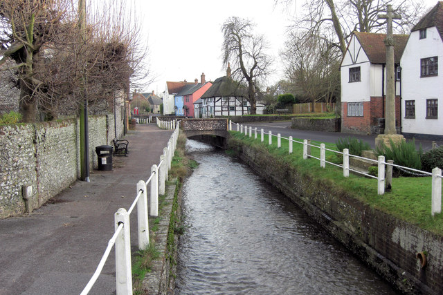 The River Meon beside High Street