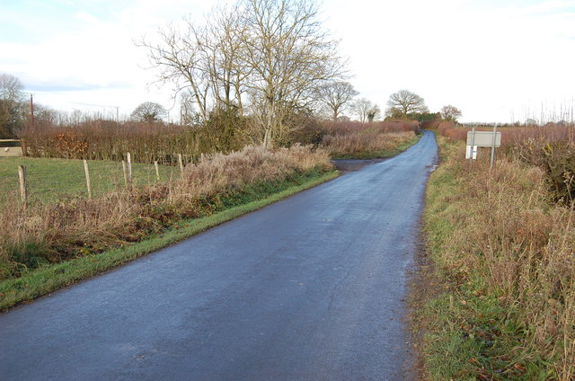Unnamed lane near Horton Green