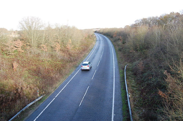 A2070 towards Ashford