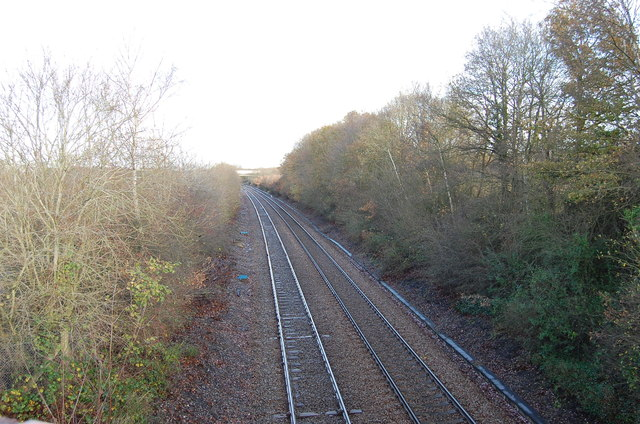 Railway lines towards Ashford