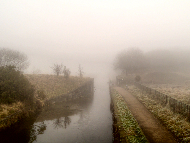 Manchester, Bolton and Bury Canal in Fog