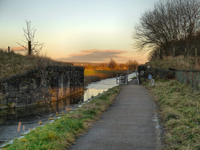 Dismantled Railway Bridge, Manchester Bolton and Bury Canal