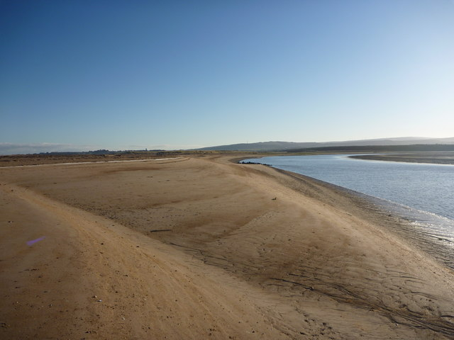 Coastal East Lothian : Smooth Deep Sand Behind Spike Island Point