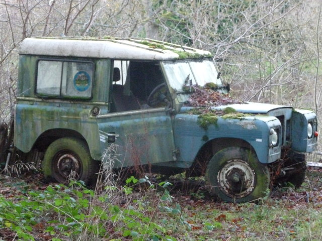Classic series 3 Landrover at Hopton Wafers