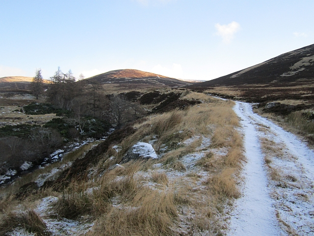 Road up Glen Cally