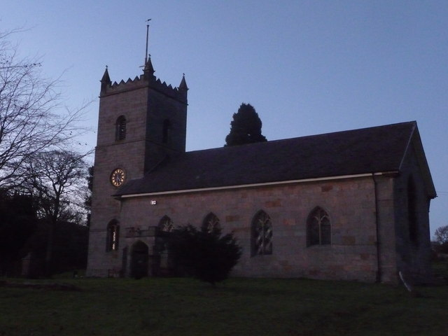 Hopton Wafers church in December