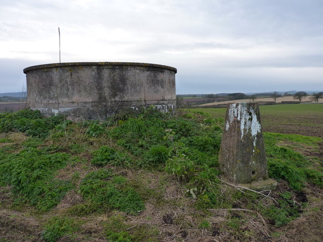 Water reservoir and a trig pillar