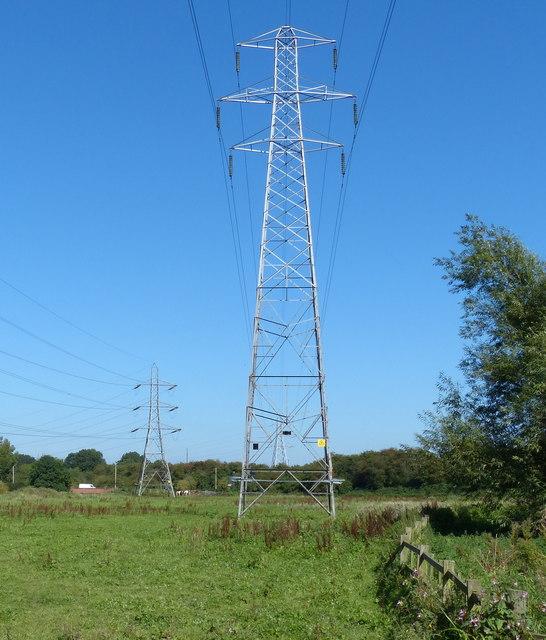 Pylons on the Aylestone Meadows