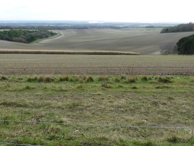 View south from bridleway 469