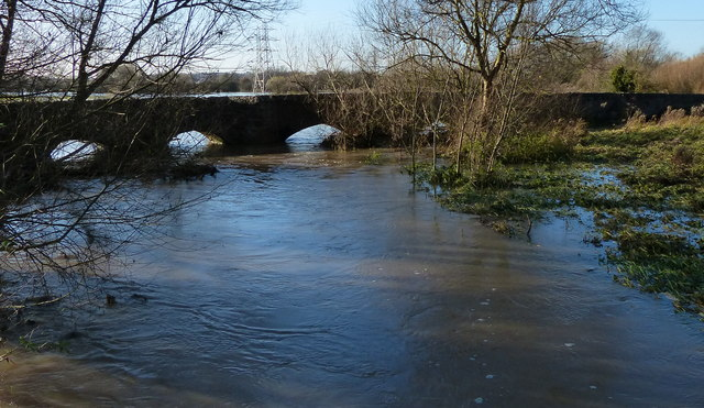 Flooding at the Packhorse Bridge