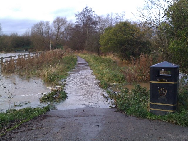 Flooding near the Packhorse Bridge