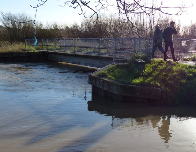 Footbridge across the River Biam in Aylestone