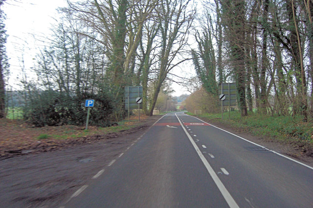 A32 leaves Lower Faringdon
