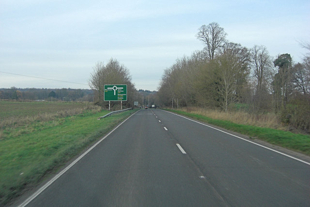 A32 approaches junction with A31