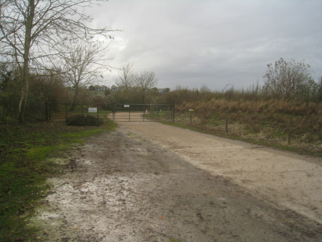 Entrance to landfill site