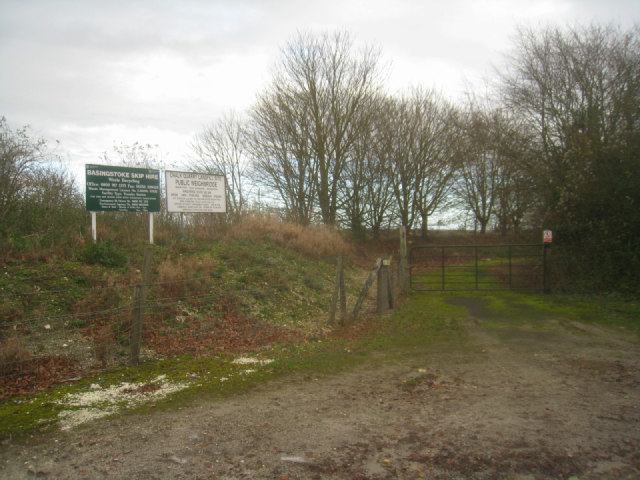 Signage by landfill site