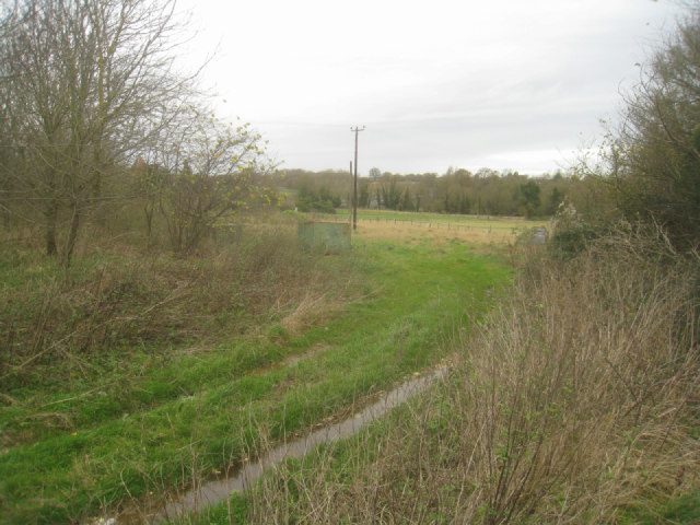 Fields behind landfill site