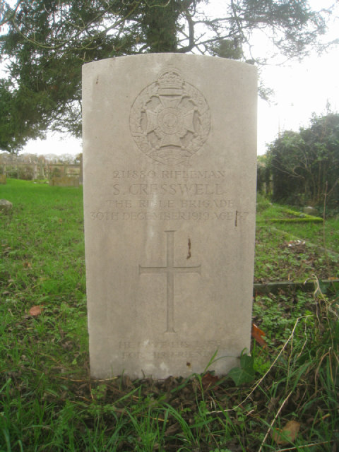 Rifleman S. Cresswell