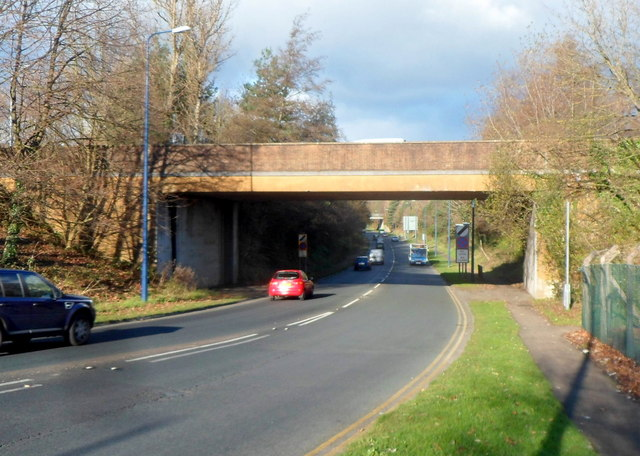 Henllys Way bridge over Cwmbran Drive, Cwmbran
