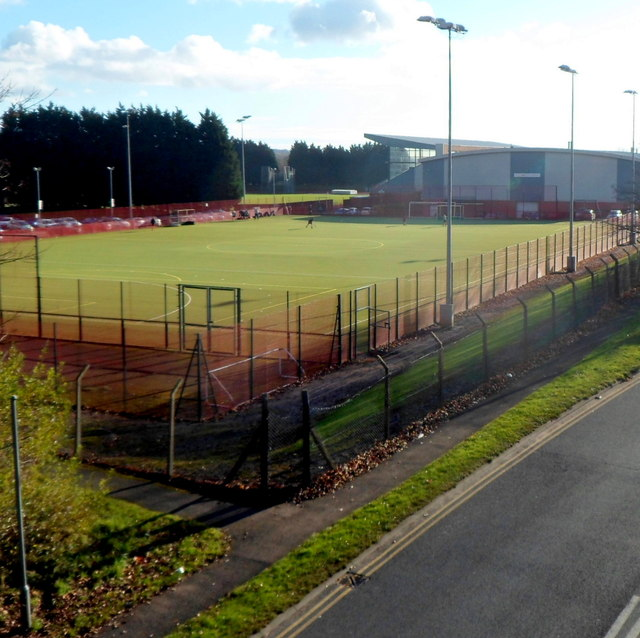 Cwmbran Stadium viewed from Henllys Way